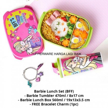 Tupperware Barbie Lunch Set + FREE CHARM BRACELET / NECKLACE