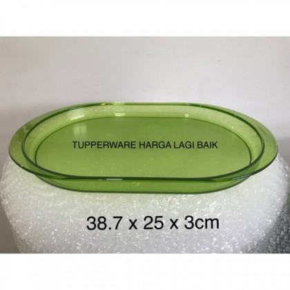 Tupperware Crystalline Green, Blue , Red Tray