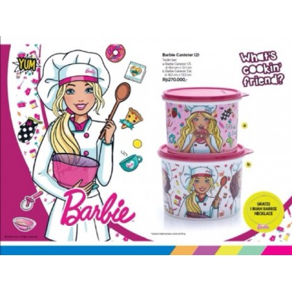 Tupperware Barbie Canister (2pcs + 1 free necklace)