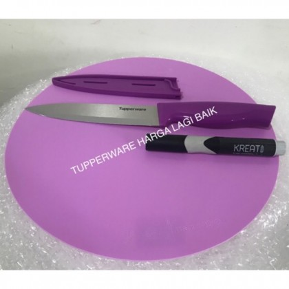 Tupperware Cutting Board + Kitchen Knife