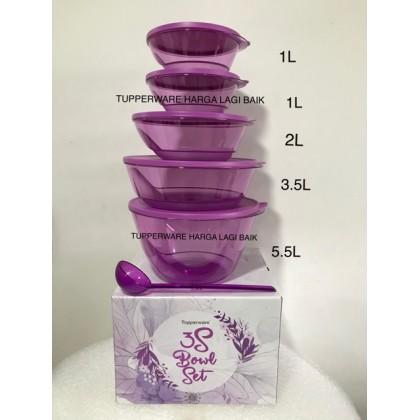 Tupperware 3s Bowl (5 bowls + 1 ladle)