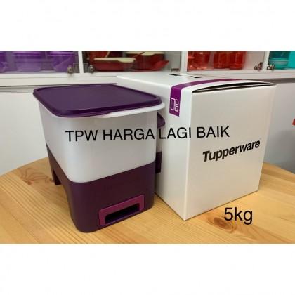 Tupperware Rice Smart Dispenser , Bekas Beras, Tong Beras 5kg