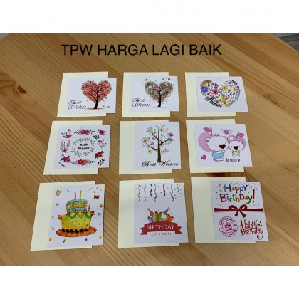 Greating Card , Kad Ucapan Happy Birthday, Best Wishes, New Baby, Thank You